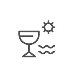 Vacation line icon vector