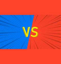vs background versus screen design pop art style vector image