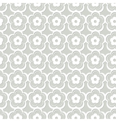White floral seamless lacy pattern vector