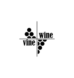 Wine and vine sing or symbol vector