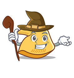 Witch fortune cookie mascot cartoon vector