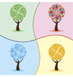 art trees four seasons vector image vector image