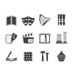different kind of Arts Icons vector image