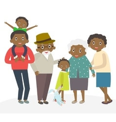 Happy african family portrait Father and mother vector image vector image