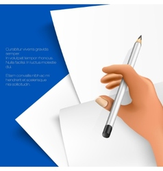 pencil and notepad vector image vector image