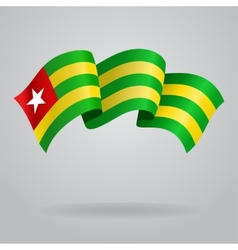 Togolese waving Flag vector image vector image