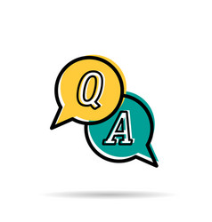line icon - questions and answers vector image vector image