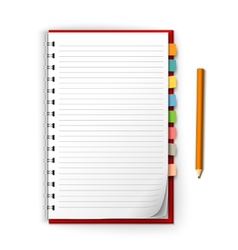 Notepad with reminders and pencil vector image