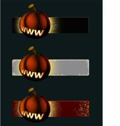 pumpkin banner vector image