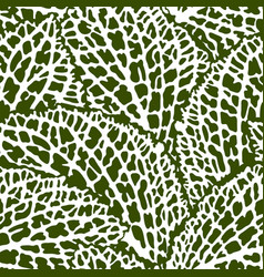 seamless pattern with decorative leaves natural vector image