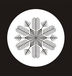 snowflake icon gray silhouette snow flake sign vector image