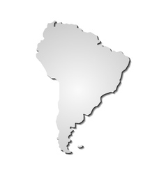 South America map background vector image vector image