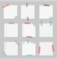 sticky note paper set vector image vector image