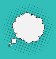 thoughts bubble pop art comics style halftone vector image