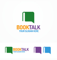 book talk logo set different color vector image