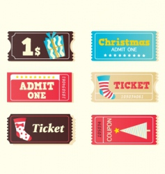 Christmas tickets vector image