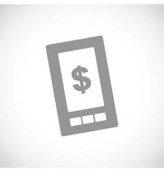 Dollar phone black icon vector image vector image