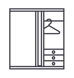 dressing room line icon sign vector image