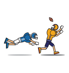 football player cartoon character vector image vector image