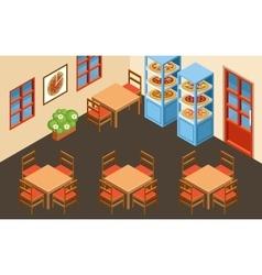 Pizzeria interior vector image