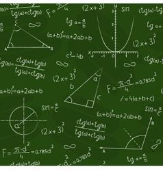blackboard with geometric shapes and formulas vector image vector image