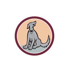 Dog Sitting Looking Up Cartoon vector image