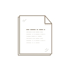 Flat Line File Icon Creative vector image vector image