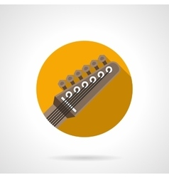 Guitar headstock round flat color icon vector image