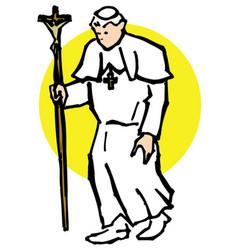 pope walk vector image vector image