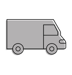 truck icon delivery van service transport business vector image