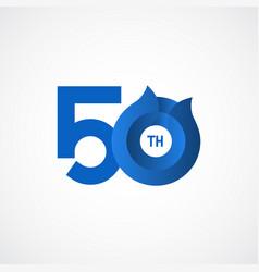 50 th anniversary celebrations template design vector