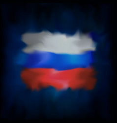Abstract flag russia on blue sky background vector