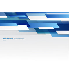 Abstract header blue and white shiny geometric vector