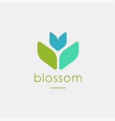 abstract shape nature blossom flower logo icon vector image