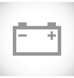Accumulator black icon vector