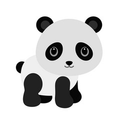 Adorable baby panda in flat style vector