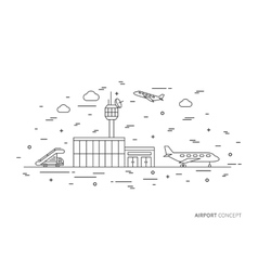 Airport creative graphic concept vector image