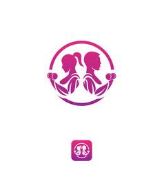 App logo fitness vector