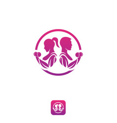 app logo fitness vector image