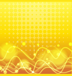 Background template with curve lines in yellow vector