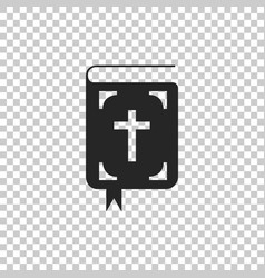 bible book icon isolated on transparent background vector image
