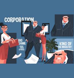 Big corporation boss vector