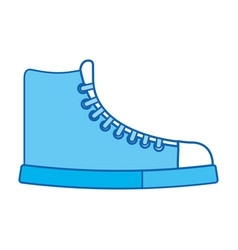 Blue icon boot cartoon vector