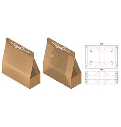 Box packaging die cut template design 3d mock-up vector