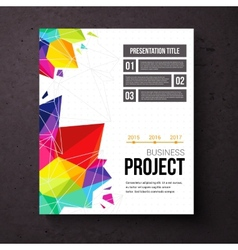 Business Project presentation template vector image