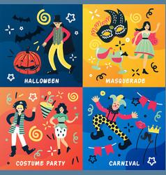 Carnival doodle design concept vector