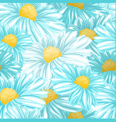 Chamomile or daisy seamless pattern vector