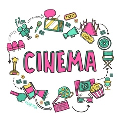 Cinema Design Concept vector