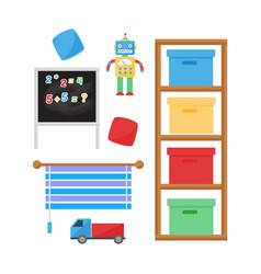 Comfortable cozy baby room decor children bedroom vector