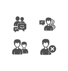 communication couple and people icons remove vector image